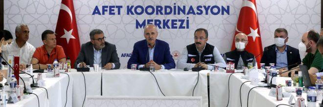 AK Parti heyeti sel bölgesinde